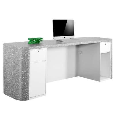 Grey marble LED modern reception desks for sale