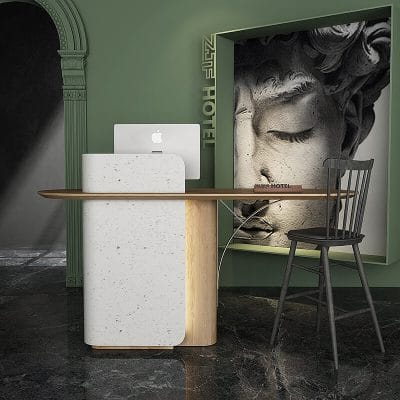 Small salon white modern LED reception desk
