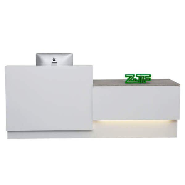 Pop white LED modern office reception desks