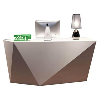 Small white diamond beauty salon reception desks