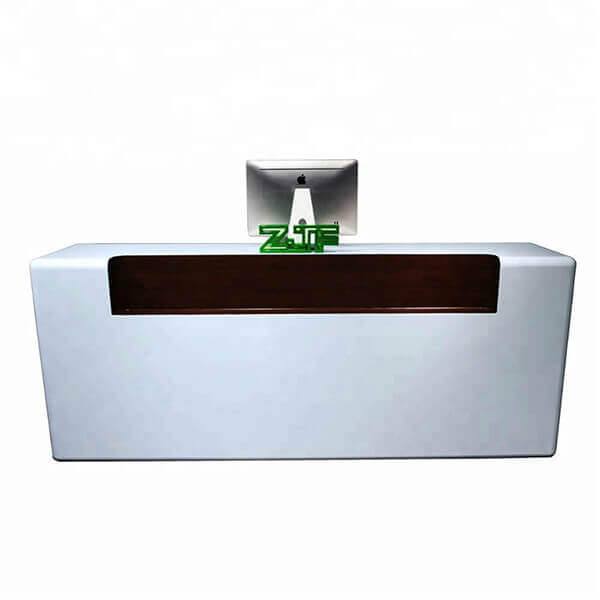 Lobby white paint modern reception desks for sale