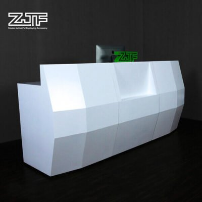 Standard salon white modern reception desk dimension