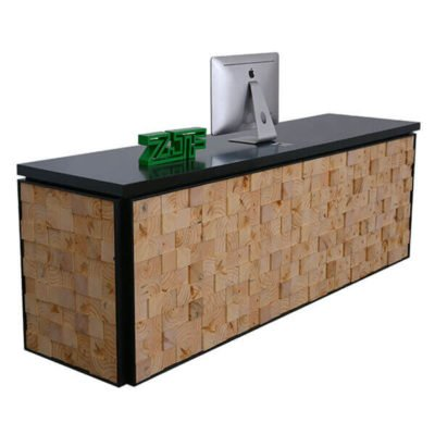 Oak solid wood block modern reception counter