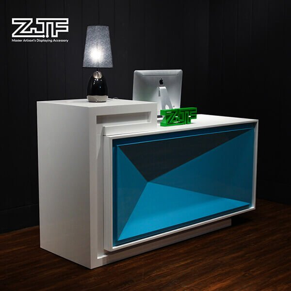 Salon MDF wood small modern reception desk