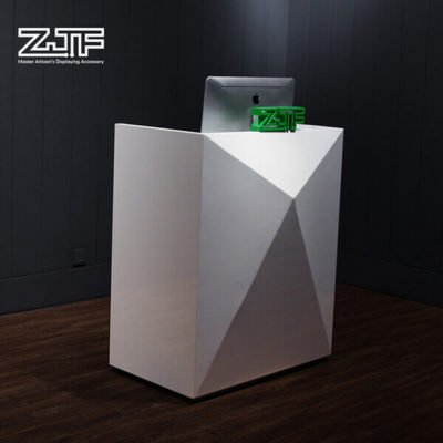 Baking white paint small modern reception desk