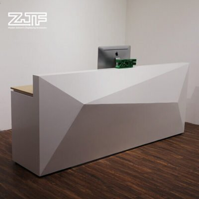 Diamond shaped salon modern reception desks white