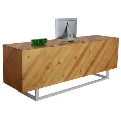 Modern solid wood reception desks beauty salon
