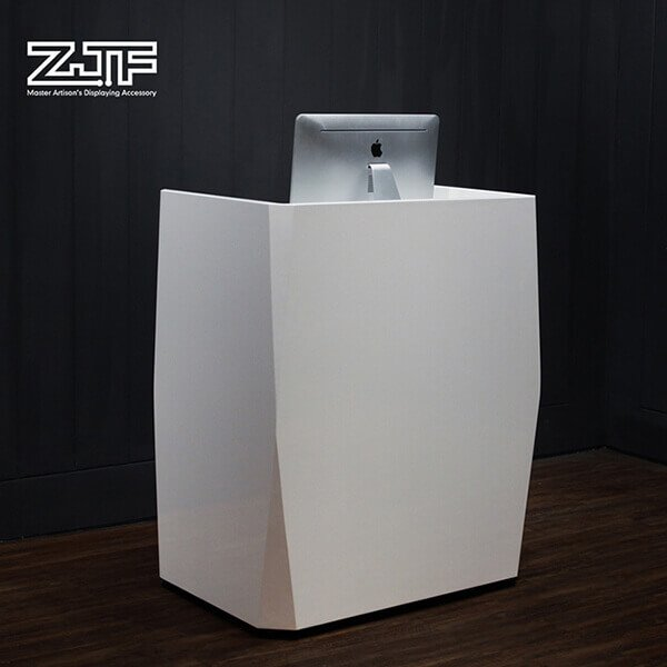 Portable white salon modern small reception desks