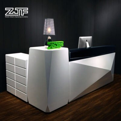 Diamond L shaped salon reception desk modern