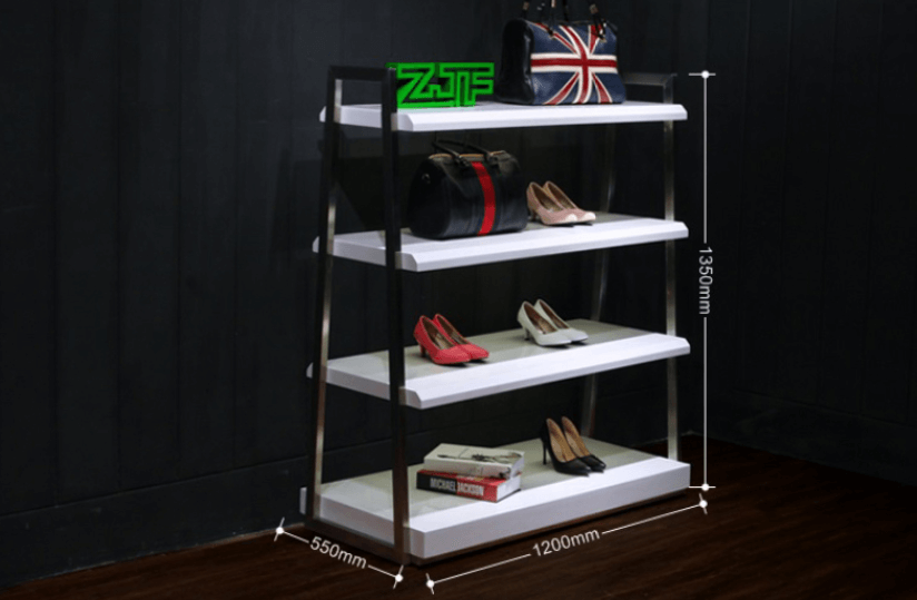 Functional wood girls shoes display ideas for shop