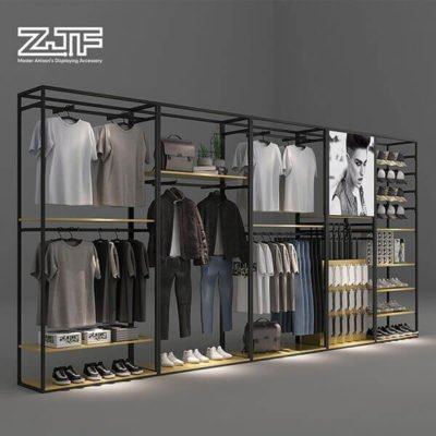 Freesstanding large storage clothing space clothes display rack