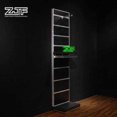 Black back board hanging clothing wall clothes rack