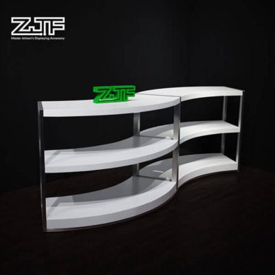 Shoes store curved women footwear display stands