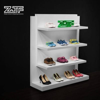 Double sides gondola LED kids shoe display shelves