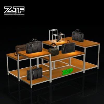 Show hot sale designs mdf handbag display table