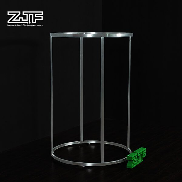 Clothes store half round stainless steel clothing rack
