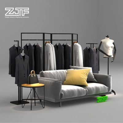 Door shaped collapsible metal clothes rack