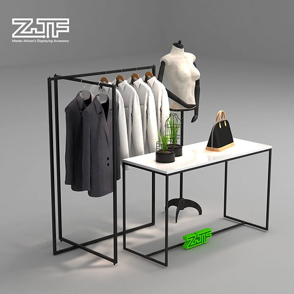 Garment shop metal fittings folding clothes rack