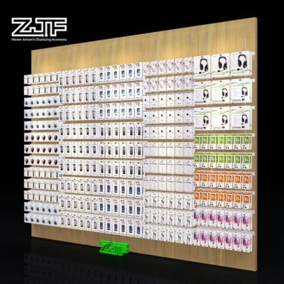 MDF panel wall display mobile accessories cellphone shop rack