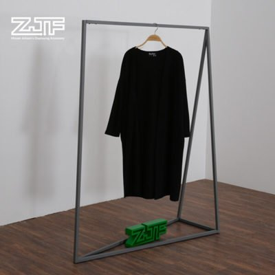 Collapsible two rails t-shirt and pant iron rack