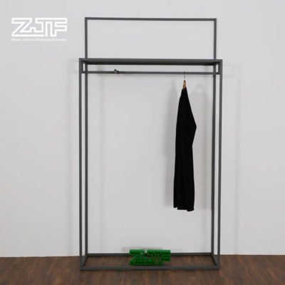 h appearance double rails metal high clothing rack