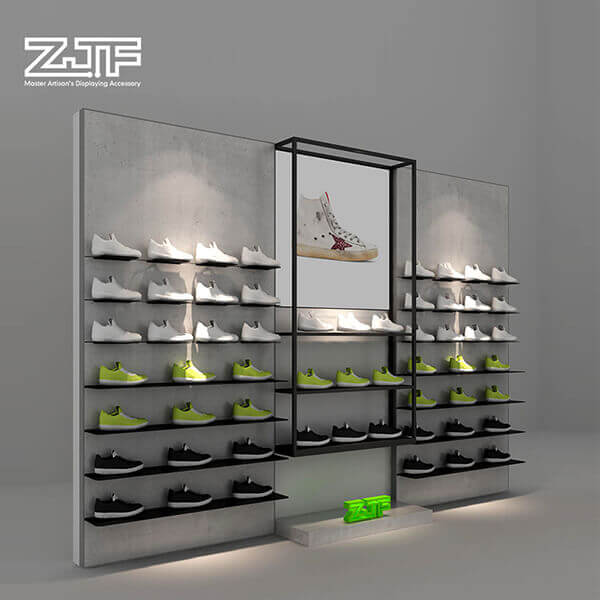 Brand sport store wall mounted sneaker display shelves