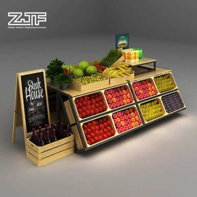 Single side supermarket fruit wine vegetable display rack