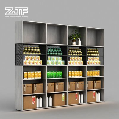 Whisky snack foods grey wooden veneer display cabinet