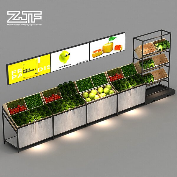 Fruit and vegetable display combination