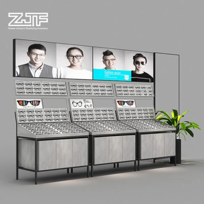 Customized standing MDF sunglasses display cabinet