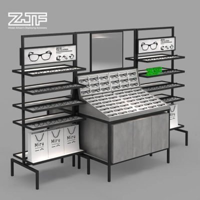 Floor free standing sunglasses shop fixture combination