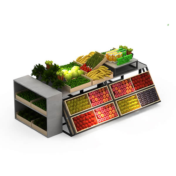 double sides fruit and vegetable stand