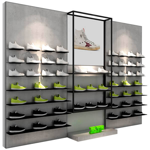 grey wood veneer shoes rack