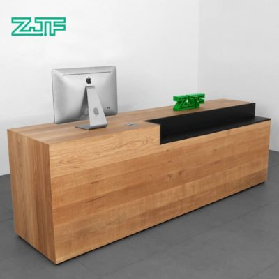 Solid wood i shaped nail salon reception desks