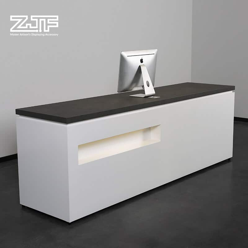 LED light marble countertop used salon reception desk